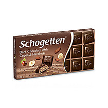 Молочный шоколад Schogetten  Dark Chocolate with Cocoa Hazelnuts 100гр (15 шт. в упаковке)