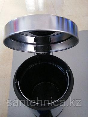 FRAP F701 Ведро для мусора 3л. хром, фото 2