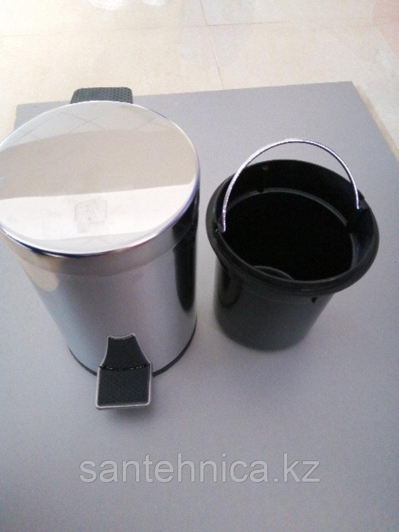 FRAP F701 Ведро для мусора 3л. хром