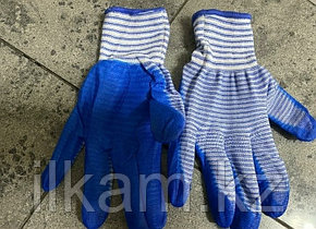 Перчатки нейлоновые с нитриловым покрытием в полоску, фото 2