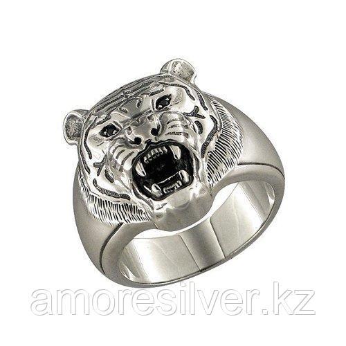 Печатка из чернёного серебра с чёрными фианитами  SOKOLOV 95010023