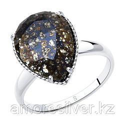 Кольцо из серебра с чёрным кристаллом Swarovski    SOKOLOV 94012037 размеры - 16,5 17 17,5 18 18,5 19 19,5