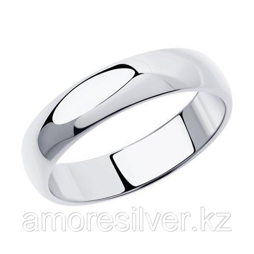 Обручальное кольцо из серебра  SOKOLOV 94110030 размеры - 15,5 16 16,5 17 17,5 18 18,5 19 23