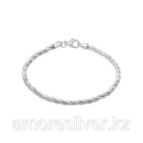 Браслет SOKOLOV серебро с родием, без вставок 94054551