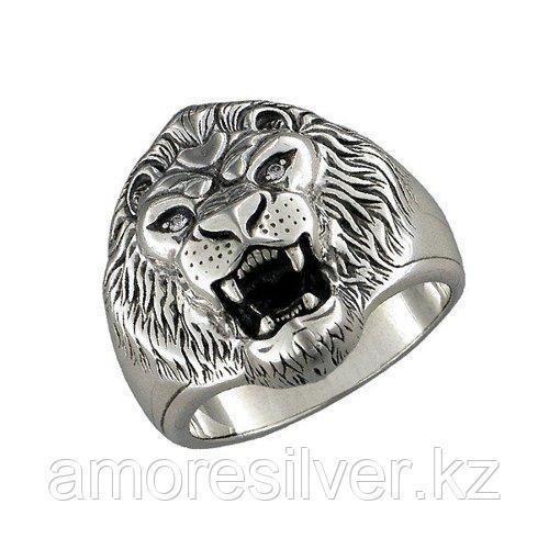 Печатка из чернёного серебра с фианитами  SOKOLOV 95010021