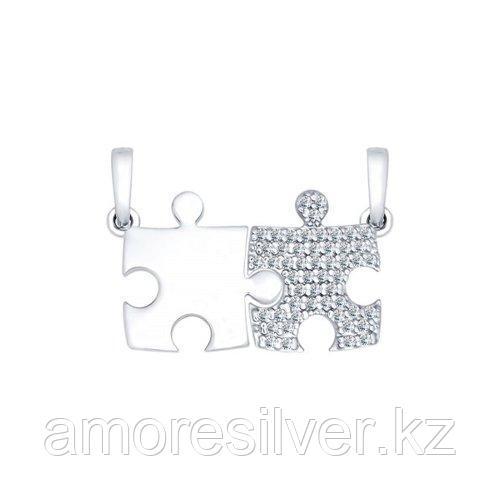 Подвеска из серебра с фианитами SOKOLOV 94031786