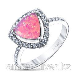 Кольцо из серебра с опалом розовый и фианитом   Teosa F-OCC00007R-OPP размеры - 18 18,5