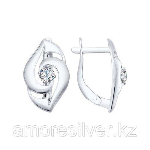 Серьги из серебра с фианитами    SOKOLOV 94022324