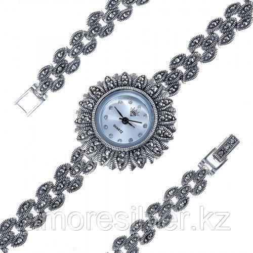 Серебряные часы с марказитом   Teosa PTW-160-MAC
