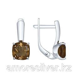 Серьги из серебра с раухтопазами    SOKOLOV 92021400