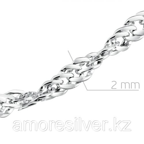 Цепь  серебро с родием 81030020255