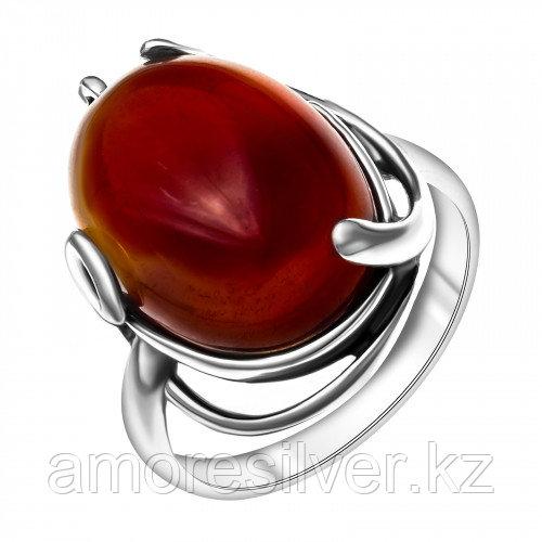 Серебряное кольцо с сердоликом синтетическим   Приволжский Ювелир 243466-CRN