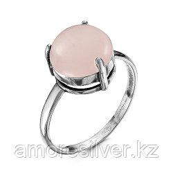 Серебряное кольцо с кварцем розовым    Красная Пресня 2338370К размеры - 18 19