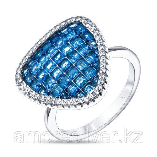 Серебряное кольцо с кубическим цирконом    TEO SANTINI TS81531-R-QCBL размеры - 18