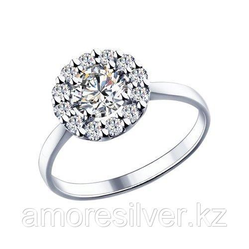Кольцо из серебра с фианитами    SOKOLOV 89010013 размеры - 16 16,5 17 17,5 18 18,5 19 19,5