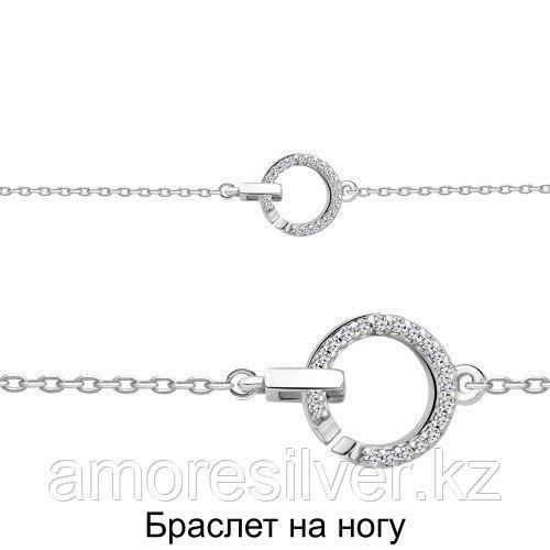 Серебряный браслет с фианитом   Aquamarine 74491А