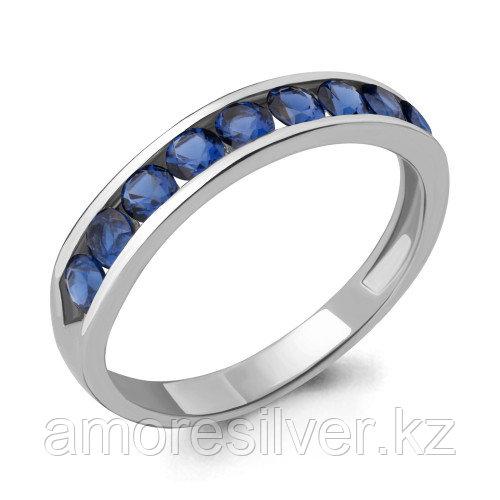 Кольцо из серебра с наносапфиром синт.    Aquamarine 63897Б.5 размеры - 17,5 18,5 19