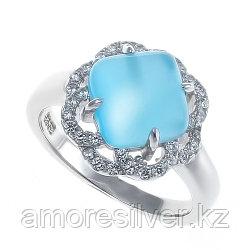 """Кольцо из серебра с фианитом   ЮК """"Серебро"""" SRCAS911-33-R размеры - 17"""