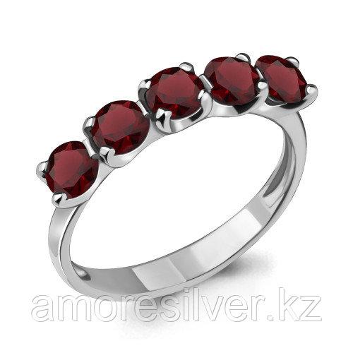 Кольцо из серебра с гранатом   Aquamarine 6526003