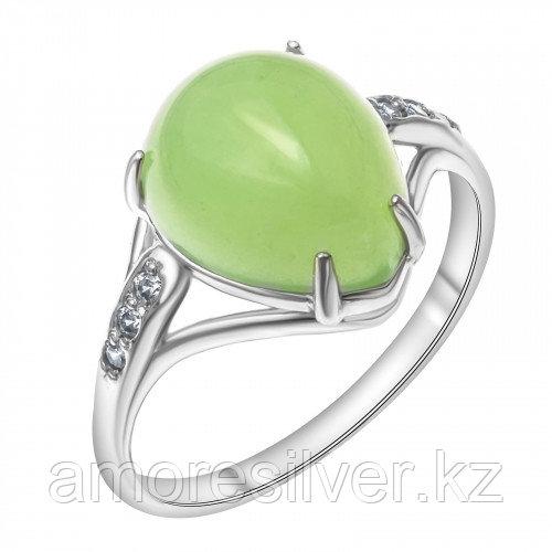 Серебряное кольцо с нефритом синт. и нефритом   Красная Пресня 2339678Дн размеры - 18