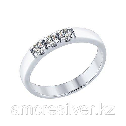 Кольцо из серебра со Swarovski Zirconia    SOKOLOV 89010059 размеры - 16,5 17 17,5 18 18,5 19 19,5