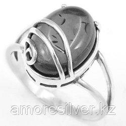 Серебряное кольцо с хризопразом и гематитом   Приволжский Ювелир 243933 размеры - 18