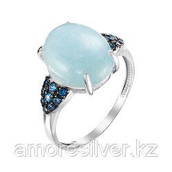 Серебряное кольцо с аквамарином   Teosa К625-4905М3