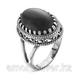 Кольцо из серебра с агатом синт. и стеклом    Красная Пресня 2337096а размеры - 18 19