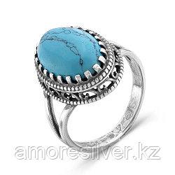 Кольцо из серебра с бирюзой синт.   Красная Пресня 2337096Б размеры - 18,5