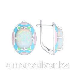 Серьги из серебра с эмалью с опалами    SOKOLOV 83020039