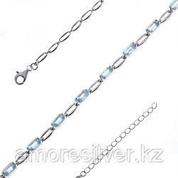 Серебряный браслет с топазом   Teosa B-DRGR00622-T размеры - 16,5 18,5
