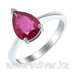 Кольцо из серебра с рубином    Teosa R-DRGR00553-RB размеры - 16,5 17,5