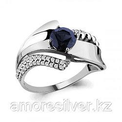 Серебряное кольцо с фианитом   AQUAMARINE 64838Б размеры - 18