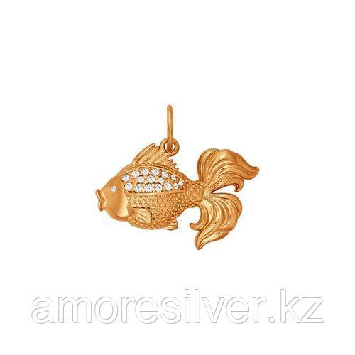 Подвеска в форме золотой рыбки  SOKOLOV 93030121