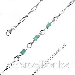 Браслет из серебра с фианитом   Teosa B-DRGR00620-EM размеры - 17 18 18,5 20