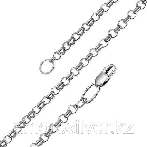 Цепь  серебро с родием, без вставок 81060340055