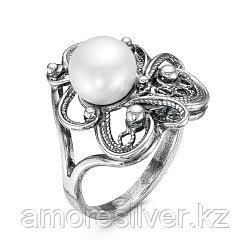 Кольцо из серебра с жемчугом культ.   Красная Пресня 2339168 размеры - 18,5 19