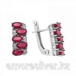 Серебряные серьги с рубином   TEOSA E-DRGR00865-RB