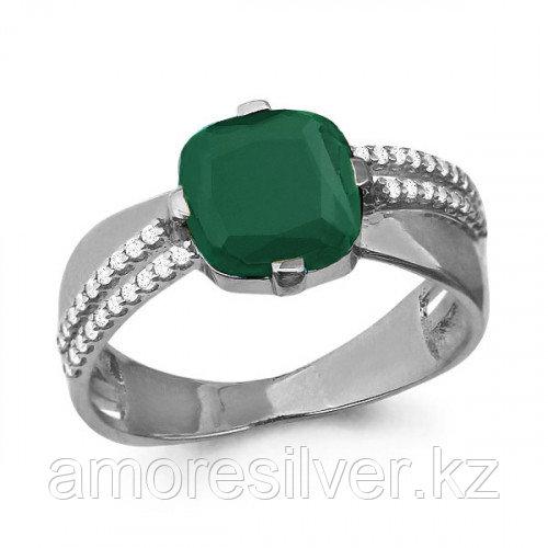 Серебряное кольцо с агатом зеленым   Aquamarine 6547909А
