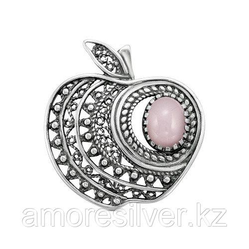 Брошь Красная Пресня , кварц розовый, фрукты и ягоды 13311022К