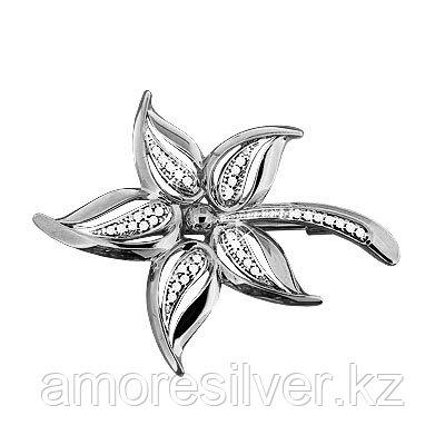 Брошь из серебра с фианитом   Aquamarine 72563А