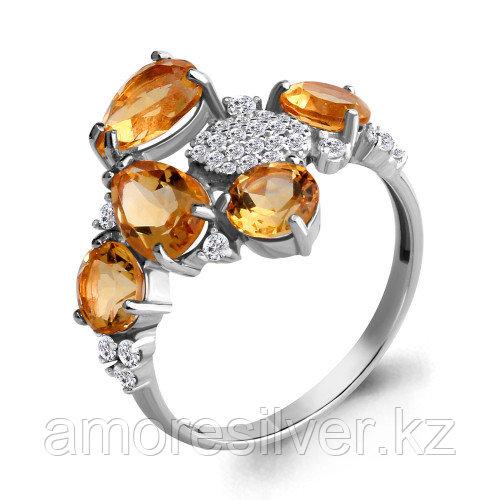 Серебряное кольцо с цитрином   Aquamarine 6905306А