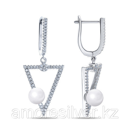 Серьги из серебра с майоркой   TEO SANTINI GE01592E
