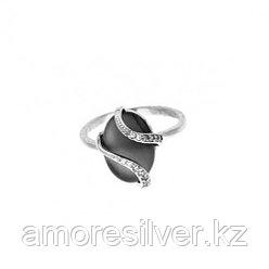 Кольцо из серебра с хризопразом и ониксом черным   Приволжский Ювелир 251129 размеры - 18