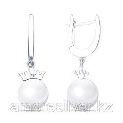 Серьги из серебра с керамикой    Teosa ZCE-2128-W