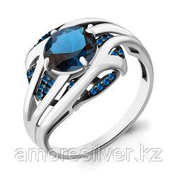 Серебряное кольцо с нано топазом лондон  AQUAMARINE 6903793Б размеры - 18