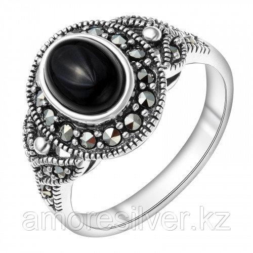 Серебряное кольцо с марказитом    Teosa HR-339-ON размеры - 18