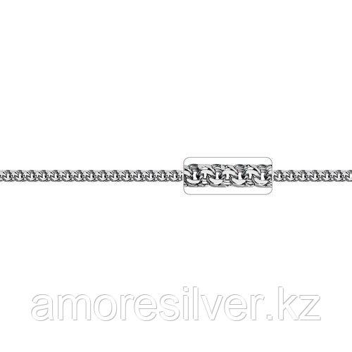 Цепь Адамант серебро с родием, без вставок, бисмарк ручной Ср925Р-107006050
