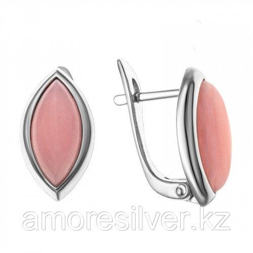 Серебряные серьги с кварцем розовым   Darvin 929P11073aa