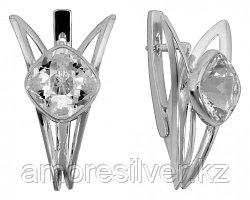 Серьги из серебра с горным хрусталем   Невский 43529Р